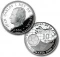 Año 2004. Moneda 10 euros. FIFA Alemania 2006