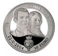 Año 2004. Moneda 10 euros. Boda Real