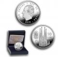Año 2010. Moneda 10 euros. Gaudi - Sagrada Familia