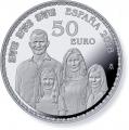 Año 2018. Moneda 50 € Aniversario Rey. Familia Real