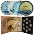Año 2018. Moneda 1,5 € Historia Navegacion. (4 Valores) Nickel
