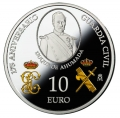 Año 2019. Moneda 10€ 175 Aniversario Guardia Civil