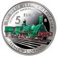 Año 2020. Moneda 05 € Trenes Historicos - Barcelona Mataro