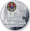 Año 2021. Moneda 10€ 800 años Catedral de Burgos - Gotico