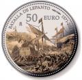 Año 2021. Moneda 50€ 450 Aniv. Batalla Lepanto (Cincuentin)