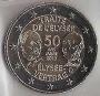 Moneda 2 euros Alemania 2013 L'Elysee. Juego 5 cecas (A,D,G,F,J)