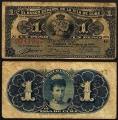 Billete 001 Peso Banco Español Isla Cuba 1896 BC