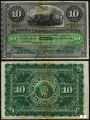 Billete 010 Pesos Banco Español Isla Cuba 1896 MBC