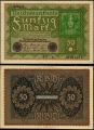 Billete Alemania 0000050 Marcos S/C-. 1919