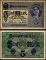 Billete Alemania 0000005 Marcos S/C. 1917