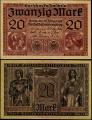 Billete Alemania 0000020 Marcos S/C. 1918