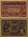 Billete Alemania 0000020 Marcos S/C. 1918