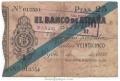 Billete Banco de España - Gijón 025 pesetas 1936 MBC