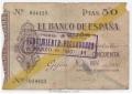 Billete Banco de España - Gijón 050 pesetas 1936 MBC-