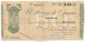 Billete Banco de España - Bilbao 0050 pesetas 1936 MBC+