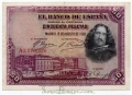 Billete Banco de España - Madrid 0050 pesetas 1928 MBC RESELLO