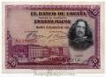 Billete Banco de España - Madrid 0050 pesetas 1928 MBC RESELLO