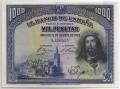 Billete Banco de España - Madrid 1000 pesetas 1928 EBC