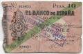 Billete Banco de España - Gijón 010 pesetas 1936 RC