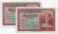 Billete Banco de España - Madrid 0010 pesetas 1935 EBC PAREJA