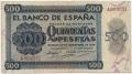 Billete Estado Español 0500 pesetas Burgos 1936  MBC