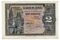Billete Estado Español 0002 pesetas Burgos 1938 EBC