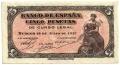 Billete Estado Español 0005 pesetas Burgos 1937 SIN SERIE EBC