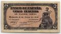 Billete Estado Español 0005 pesetas Burgos 1937 MBC
