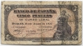 Billete Estado Español 0005 pesetas Burgos 1937 BC
