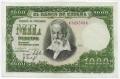 Billete Estado Español 1000 pesetas Madrid 1951 PTO GRAPA SC