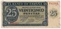 Billete Estado Español 0025 pesetas Burgos 1936 SC