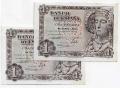 Billete Estado Español 0001 peseta Madrid 1948 SC PAREJA