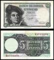 Billete Estado Español 0005 pesetas Madrid 1948 SC