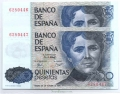 Billete Juan Carlos I 00500 pesetas Madrid 1979 PAREJ.S/SERIE SC