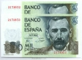 Billete Juan Carlos I 01000 pesetas Madrid 1979 PAREJ.S/SERIE SC