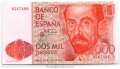 Billete Juan Carlos I 02000 pesetas Madrid 1980 SIN SERIE SC