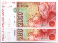 Billete Juan Carlos I 02000 pesetas Madrid 1992 PAREJ.S/SERIE SC