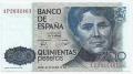 Billete Juan Carlos I 00500 pesetas Madrid 1979 SC