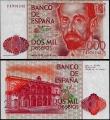 Billete Juan Carlos I 02000 pesetas Madrid 1980 SERIE F S/C