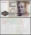 Billete Juan Carlos I 05000 pesetas Madrid 1979 S/C. Variedad