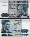Billete Juan Carlos I 10000 pesetas Madrid 1985 S/C. Pareja