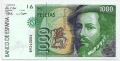 Billete Juan Carlos I 01000 pesetas Madrid 1992 SC