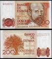 Billete Juan Carlos I 00200 pesetas Madrid 1980 S/C
