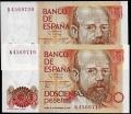 Billete Juan Carlos I 00200 pesetas Madrid 1980 Pareja SC
