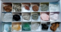 Caja de 18 minerales variados