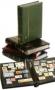 Clasificador sellos Premium 32 pg. Cartón negro. Con cajetín