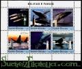 Hoja bloque Guinea Bissau 2004 (**). Ballenas y faros 2