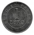 Jetón o Ficha 1 Euro en Prueba