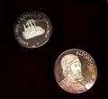 Juego de 2 Medallas Personajes Asturias. Alfonso I y Covadonga
