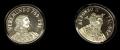 Juego de 2 Medallas Personajes Asturias. Veremundo y Alfonso II